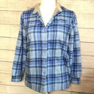 L.L. Bean Flannel Fleece Lined Sweater